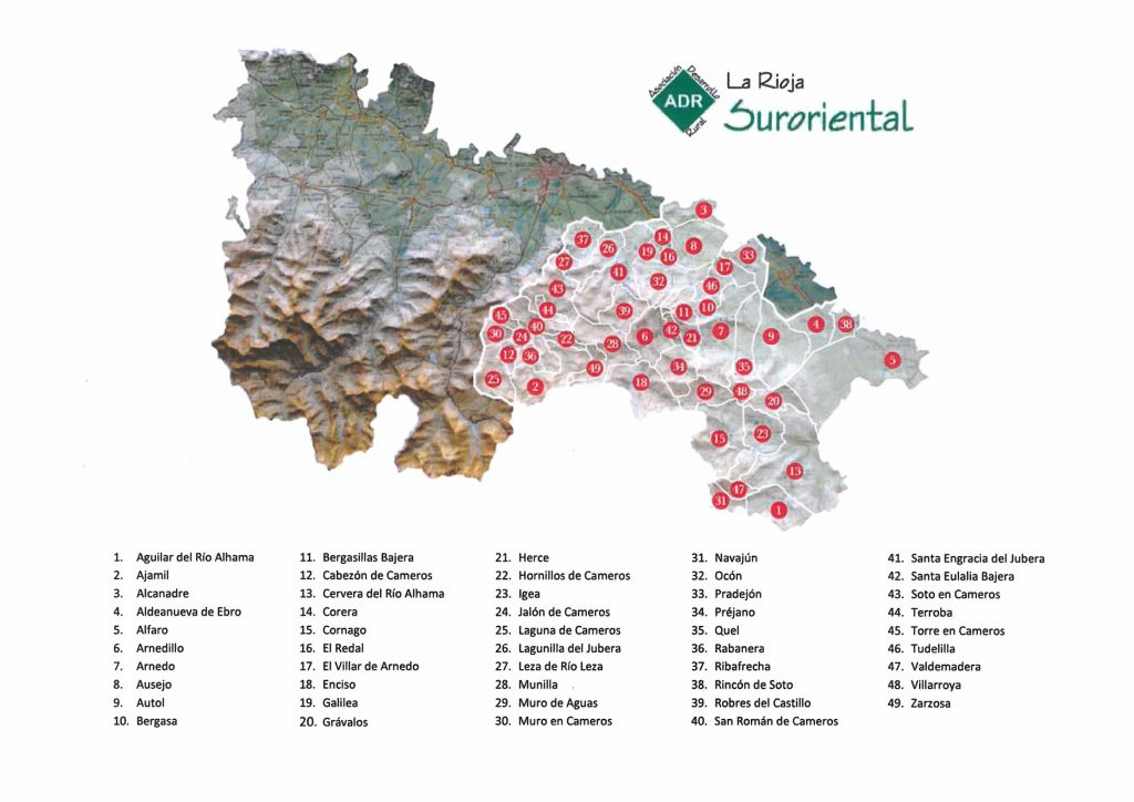 mapa suroriental con municipios